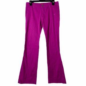Dickies Womens Flare Leg Chino Pants Sz Juniors 7